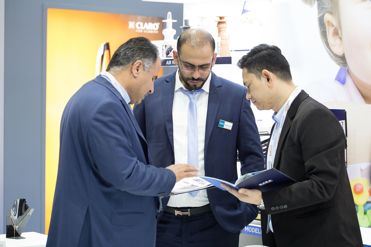 exhibitors and products at paperworld middle east